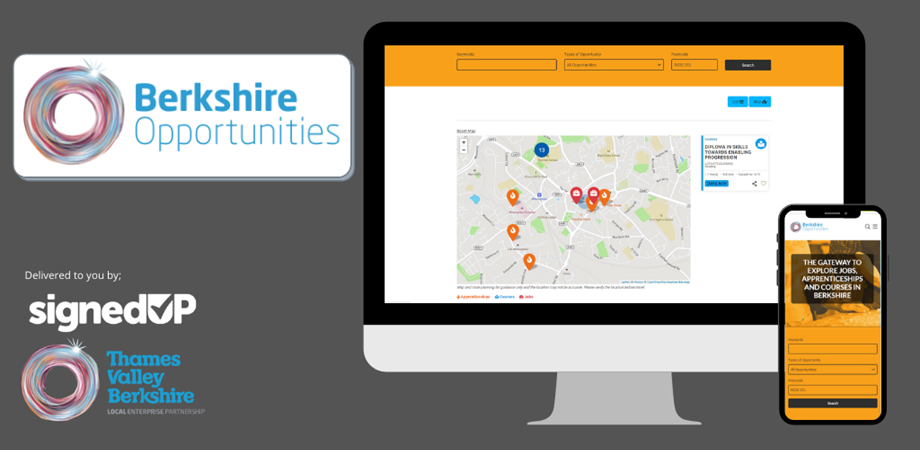 A snippet of the Thames Valley Berkshire LEP website