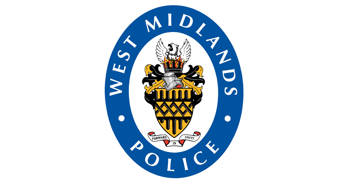 West Midlands Police crest logo: forward in unity