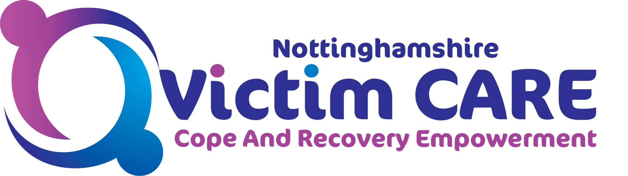 Nottinghamshire Victim Care logo: cope and recovery empowerment